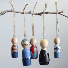custom peg doll ornaments peg personalized goose grease