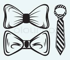 flat black and white tuxedo bow tie illustration stock vector