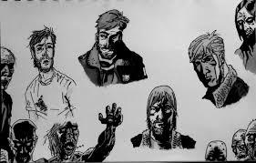 walking dead sketch graphic musings