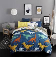 Dinosaur Bed Frame Home Textiles Dinosaur Family Style Bedding Sets 4pcs Of Duvet