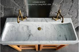carrara marble console sink 47 double bathroom sink white carrara marble stone trough looan white