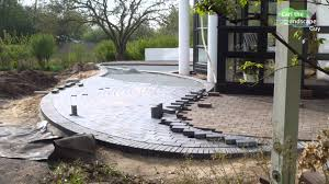 patio stone pavers how to build round paver brick patio lay two color clinker