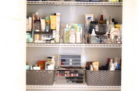 how to organize beauty products storage for hair products and