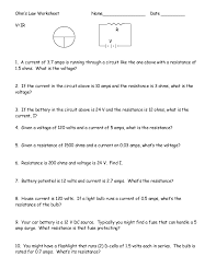 ohms law practice worksheet free worksheets library download and