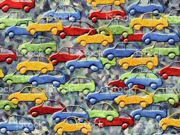Colorful Painting by Traffic Jam Colorful Painting Stock Vector Art 489247648 Istock