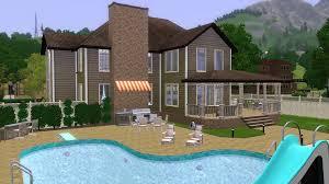 Backyard Pool And Basketball Court Mod The Sims Ricewood Lane 3br 3ba No Cc