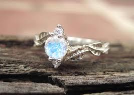 Moonstone Wedding Ring by Moonstone Leaf Engagement Ring Leaf Engagement Ring Moonstone