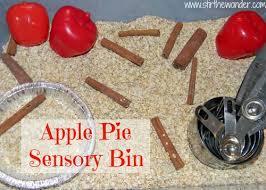 apple pie sensory bin apple pie knives and pies