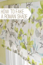 Making A Window Valance Easy Window Treatment How To Make A Fake Roman Shade Young