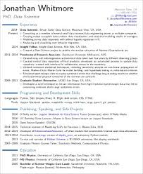 Scientist Resume Data Scientist Resume Amplifiermountain Org
