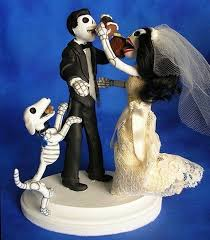 day of the dead wedding cake topper of the dead wedding cake toppers offbeat wedding ideas