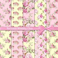 shabby chic wrapping paper roses digital paper delicate shabby chic pink shabby chic