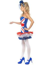 British Flag Dress Fever Rule Britannia Union Jack Costume 27209 Fancy