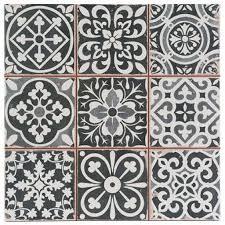 wall decor tiles black victorian and tile on pinterest best set