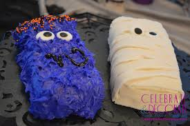 Halloween Mummy Cakes Mini Mummy And Monster Halloween Cakes Celebrate U0026 Decorate