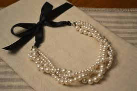 pearl necklace with ribbon images Jackie multiple twisted strand ivory pearl necklace with jpg