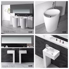 solid surface semi recessed basins wall hung bathroom basin buy