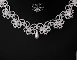 wedding necklace bride images Wedding necklace romantic bride white lace choker tatting shop jpg