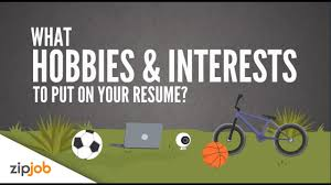 hobbies and interests you need to include on a resume youtube