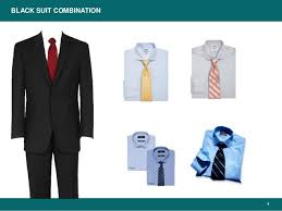 color combination with black business suits color combinations