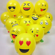 Dutch Flag Emoji 20pcs Emoji Balloons Smiley Face Expression Yellow Latex Balloons