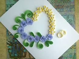 paper wedding cards make paper quilling wedding card with