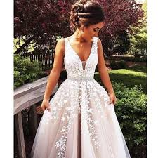 wedding dress for evening beautiful appliques a line wedding dress brides dress evening
