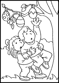boy and pick easter eggs coloring picture for kids easter