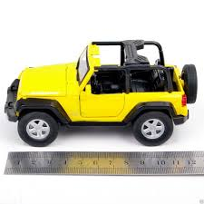 jeep rubicon yellow yellow jeep wrangler suv 1 32 diecast plastic car model kit kids