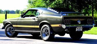 1969 Mustang Black Black Jade Green 1969 Mach 1 Ford Mustang Fastback