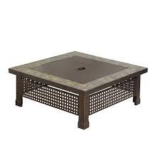pleasant hearth bradford square natural slate 34 inch fire pit