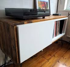 record player table ikea record player stand from ikea bestå and pallet wood ikea hackers
