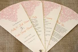 wedding program designs new wedding program fan designs blush paperie