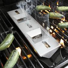 wood pellet grill smoker box with chute the green head