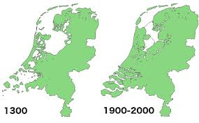 map netherlands land reclamation in the netherlands 1300 vs 2000 brilliant maps