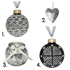 glorious christmas decoration ideas with chic baubles in silver and