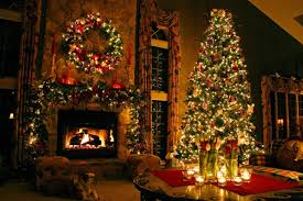 lovely home christmas fireplace decoration show alluring green