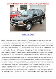 chevy blazer 1995 2004 service repair manual by feliciadailey issuu