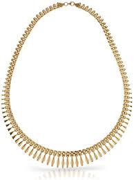 style gold necklace images Silverluxe 18kt gold over sterling silver graduated jpg