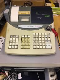 casio till te 2000 cash register u0026 10 pack till rolls in