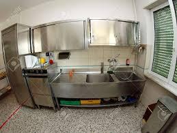 cuisine scolaire industrielle évier en acier inoxydable cuisine d une cantine