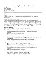 Resume Template  Summary And Skills In Basic Resume Objective Statements For Accounting Director  Basic