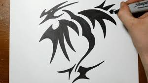 dragon tattoo designs on hand how to draw a tribal dragon tattoo design sketch 2 youtube