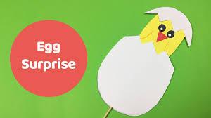 easter craft for kids egg surprise youtube