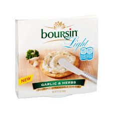 boursin cuisine light boursin light garlic herbs gourmet spreadable cheese reviews