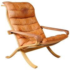 Folding Chair Leather 1960s Folding Chair By Ingmar Relling At 1stdibs