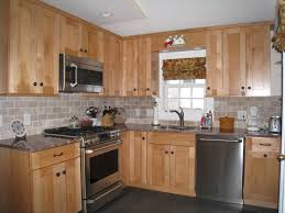 Kitchen Colors With Oak Cabinets And Black Countertops by Unfinished Shaker Cabinets Glass Panel Cabinet Door With The
