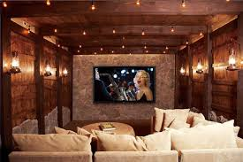 Movie Theater Style Home Theater Man Caves  Bars  Wine Cellars - Home theater interior design