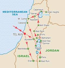 Map Of Isreal Treasures Of Israel And Jordan November 2016 Craig Travel