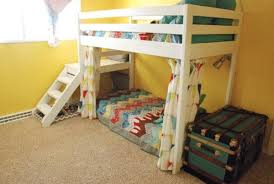 Diy Bunk Beds With Stairs Diy Loft Bunk Bed With Stairs